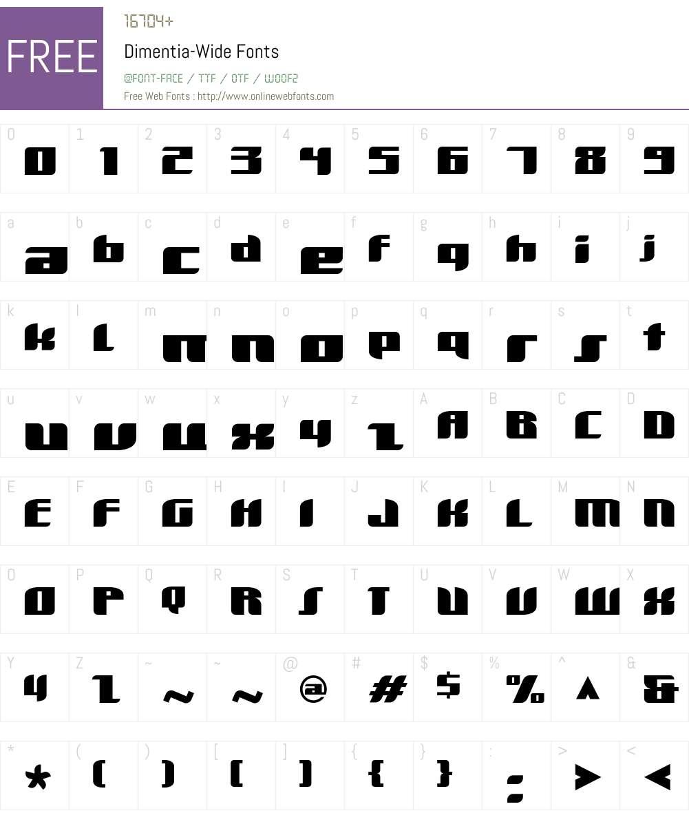 Dimentia Font Screenshots