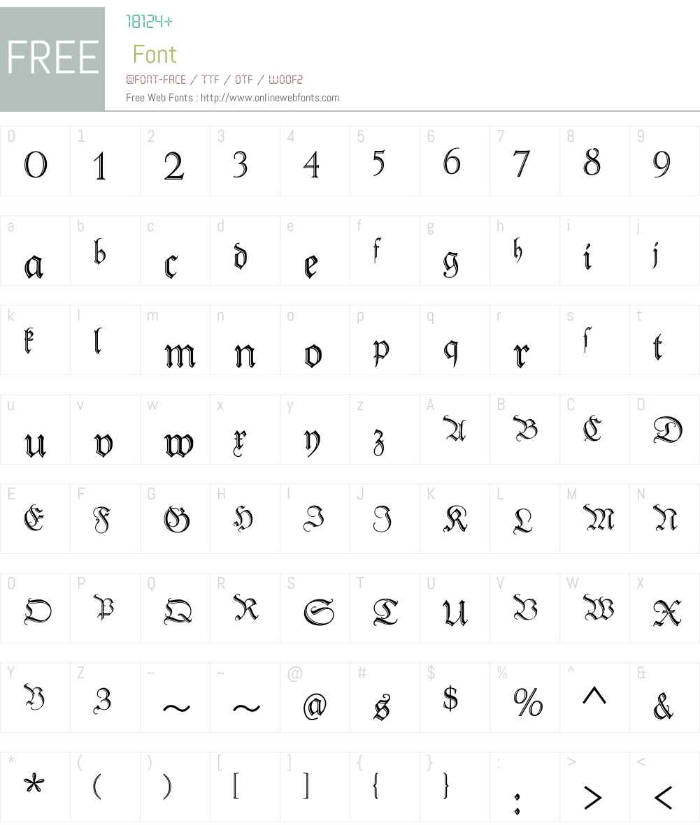PeterSchlemihlW01-Regular Font Screenshots