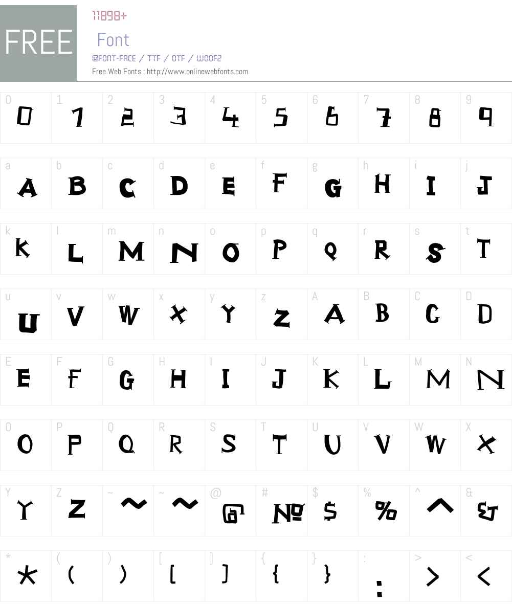 ScrapTiqua Font Screenshots