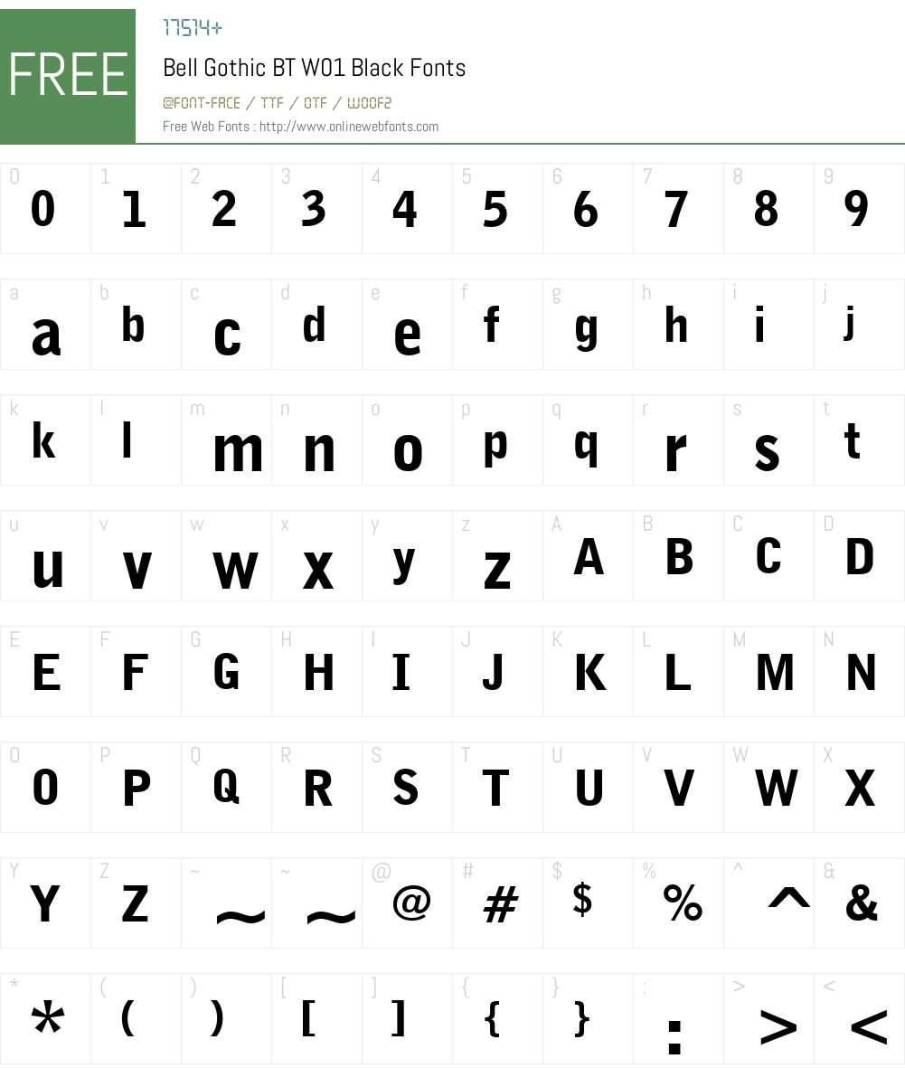 BellGothicBTW01-Black Font Screenshots