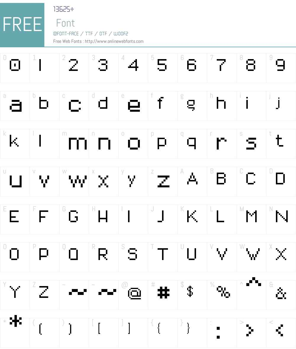 01Titanix8 Font Screenshots