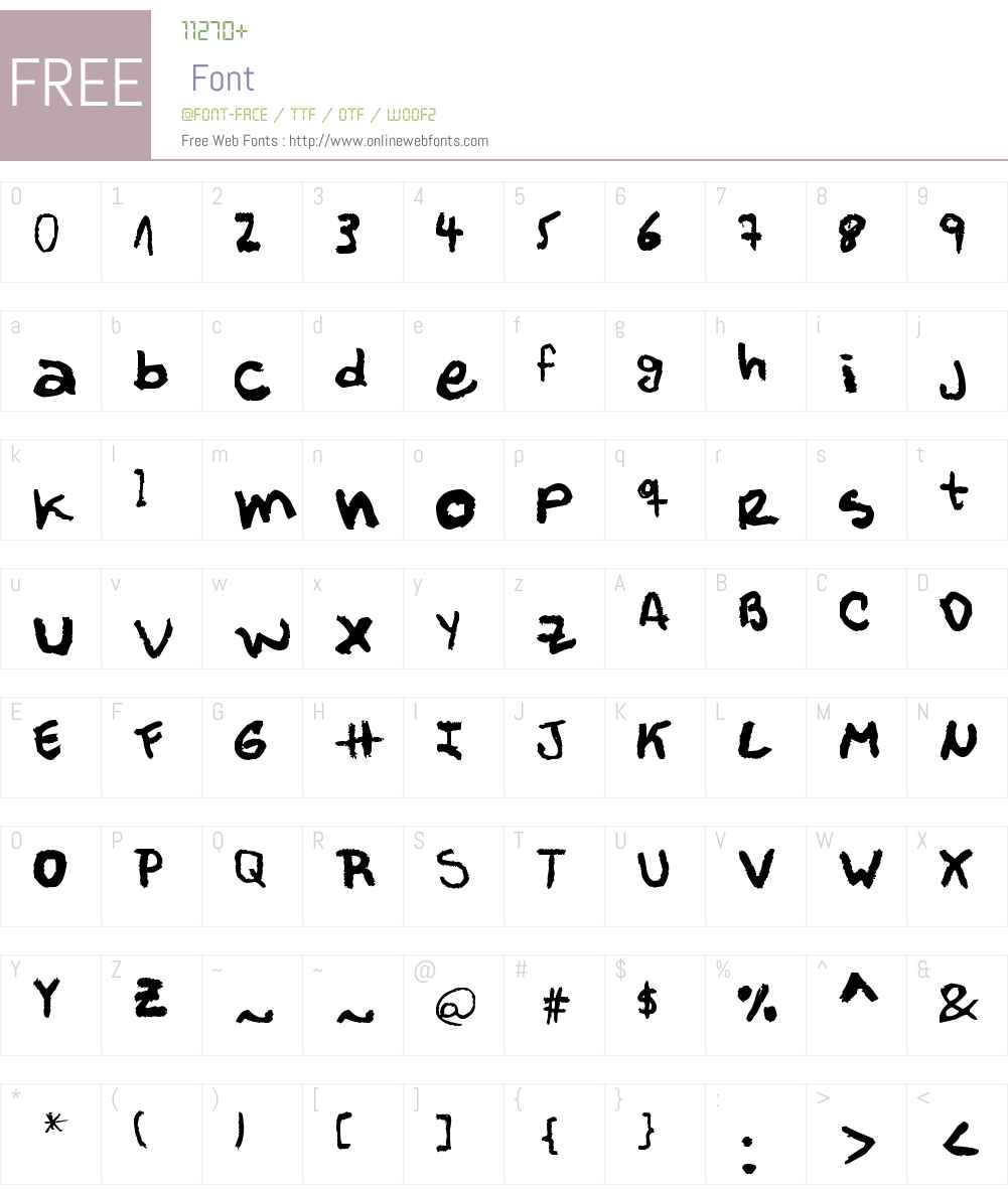 M?ller Font Screenshots