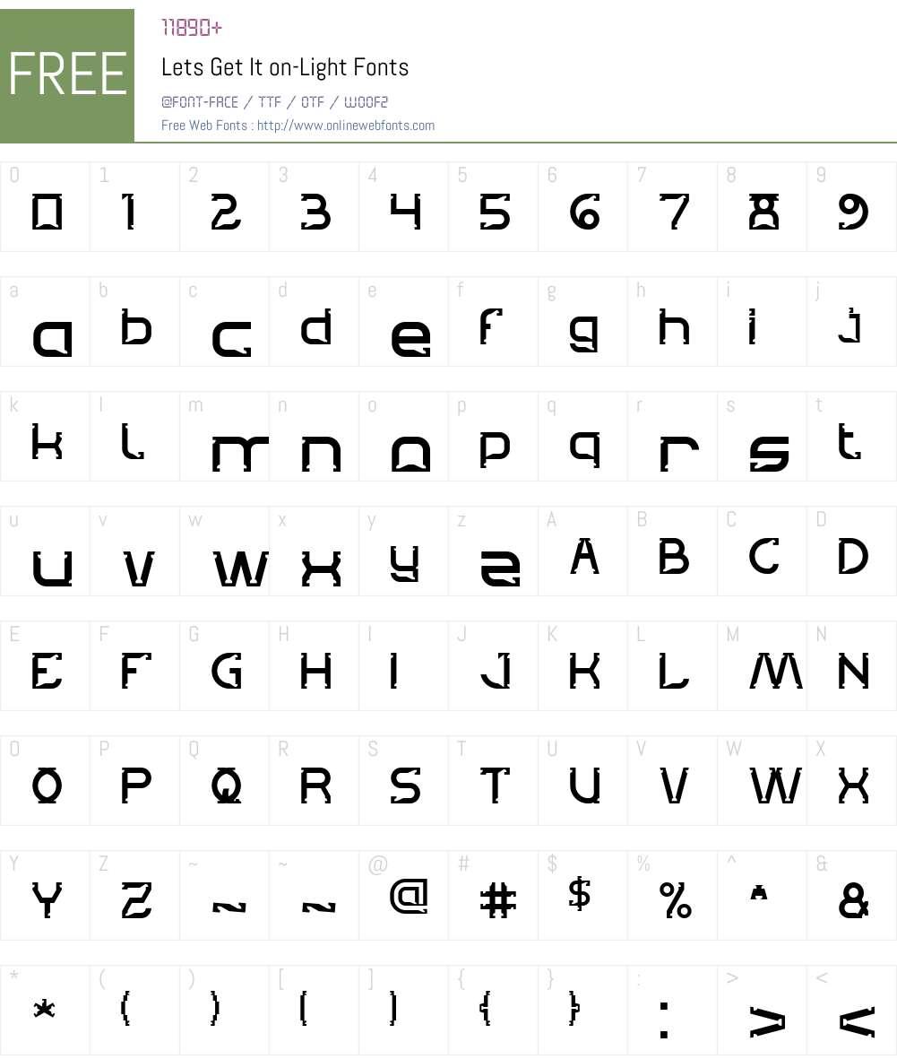 Lets Get It on-Light Font Screenshots