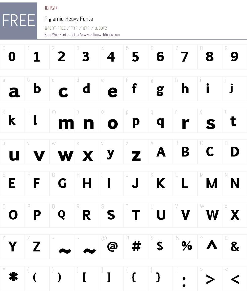 Pigiarniq Heavy Font Screenshots