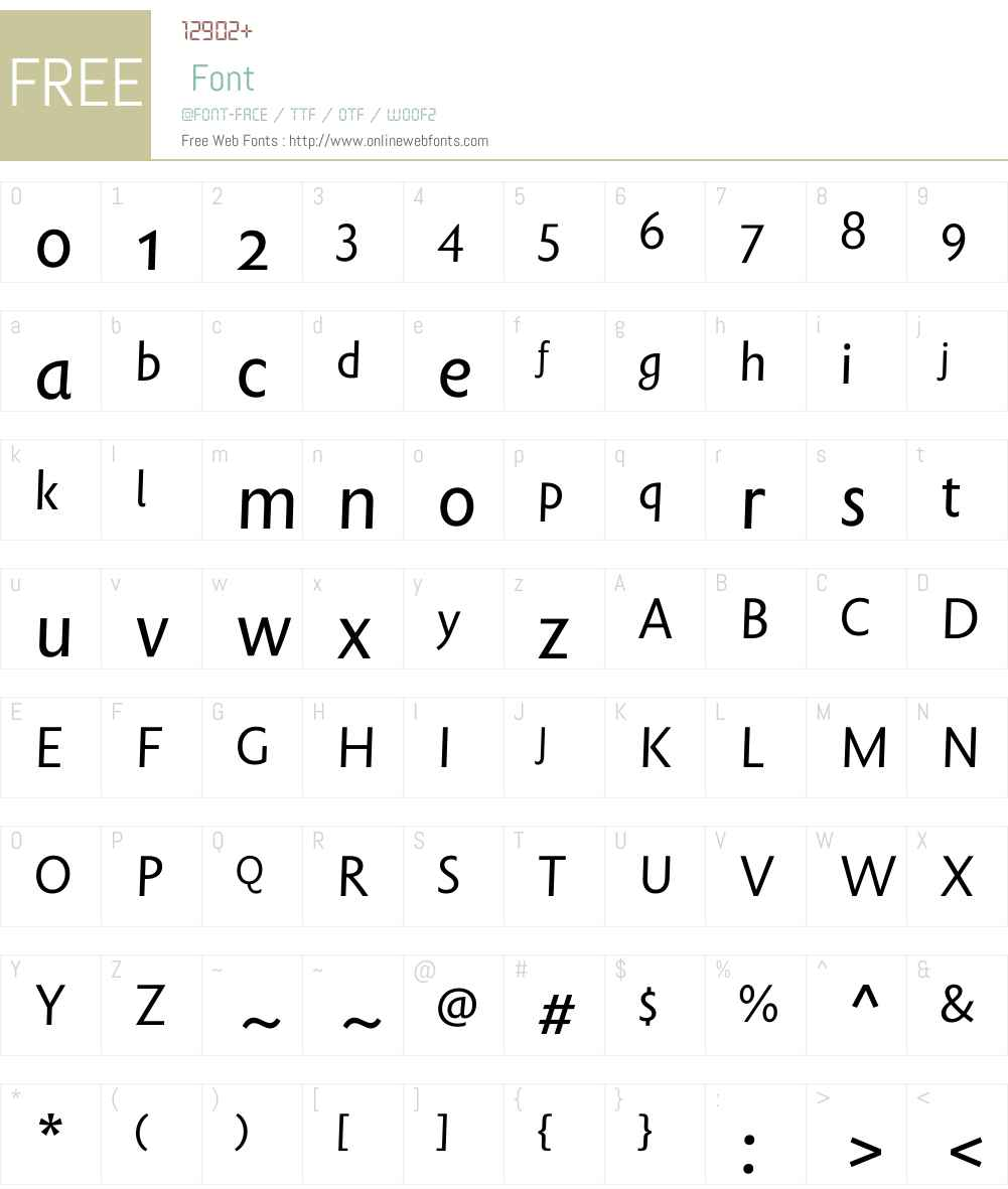 Rowton Sans FY Font Screenshots