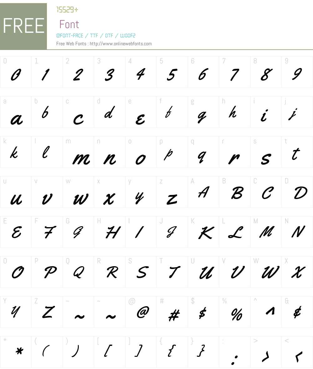 Yellowtail Font Screenshots