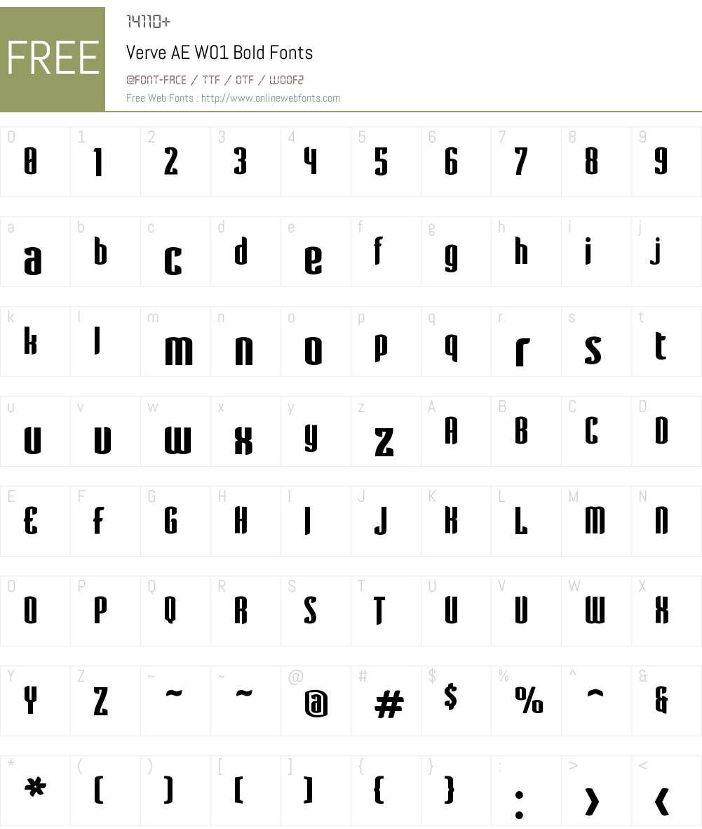 VerveAEW01-Bold Font Screenshots