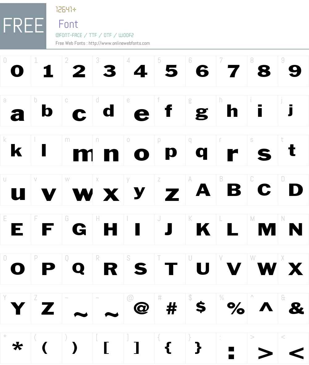 Philadelphia-Extended Font Screenshots