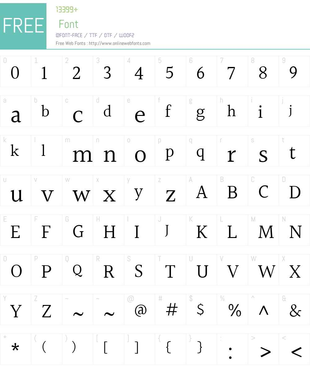 Halant Font Screenshots