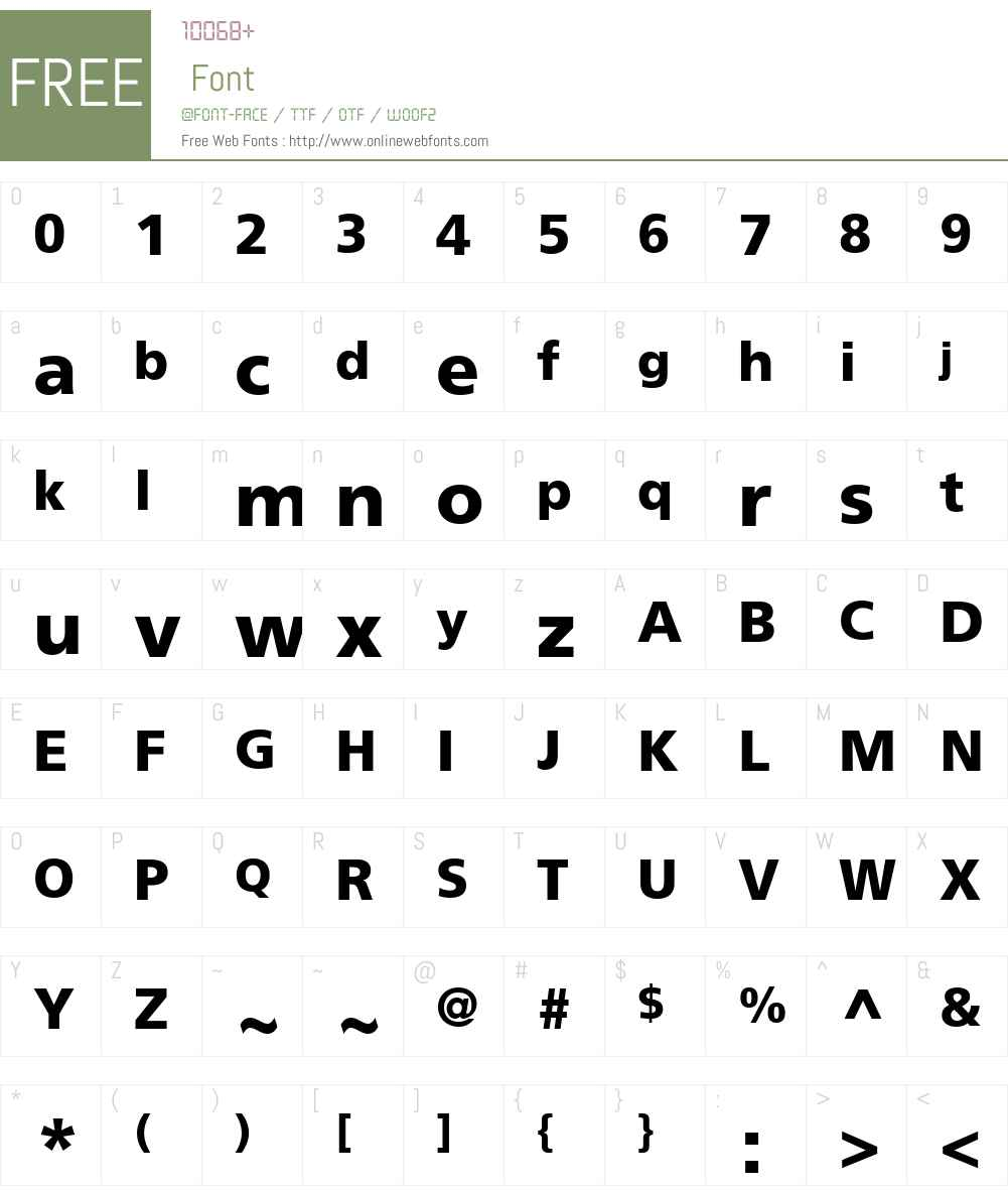 FrutigerLTW23-75Black Font Screenshots