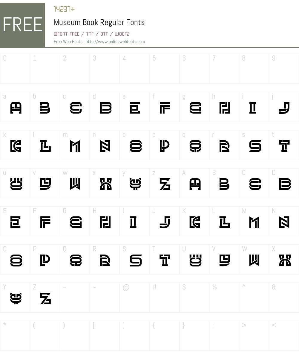 Museum Book Font Screenshots