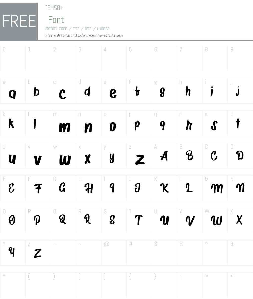Adirolies FREE Font Screenshots