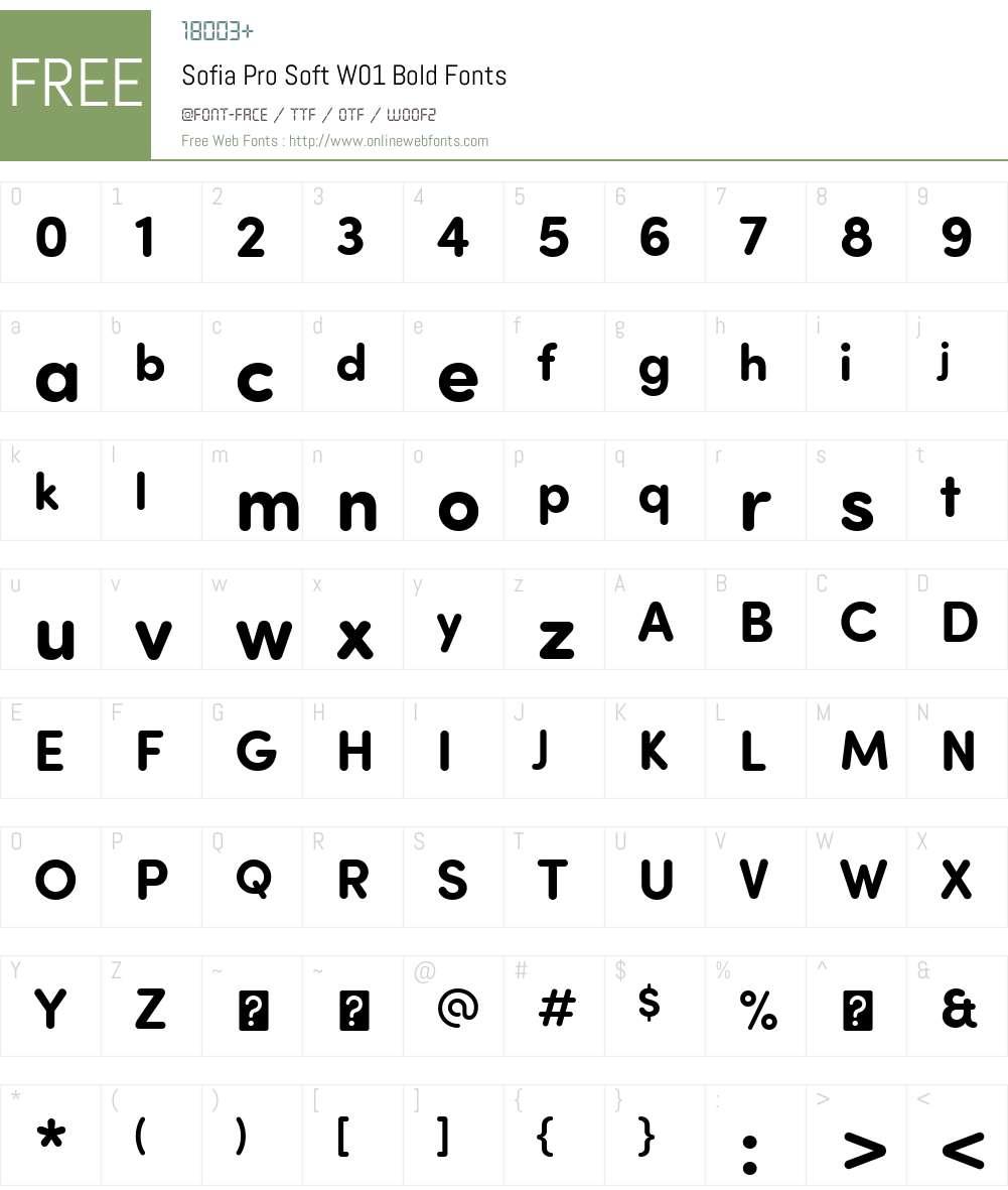 SofiaProSoftW01-Bold Font Screenshots