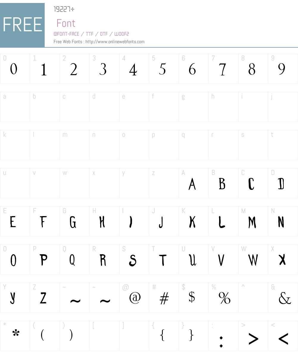 Clumsy Matilda Font Screenshots