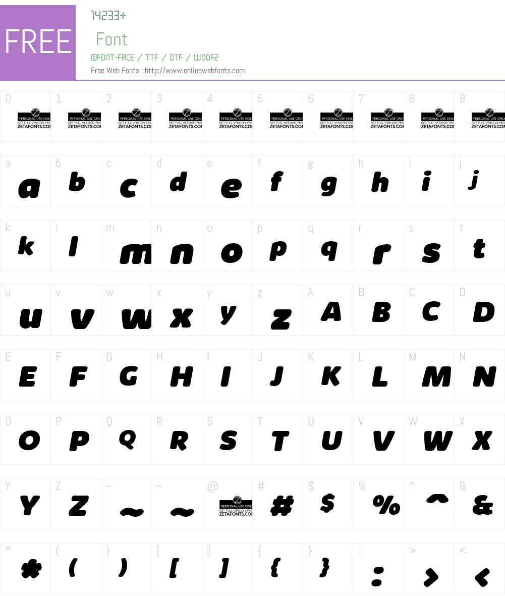 Kabrio Soft Font Screenshots