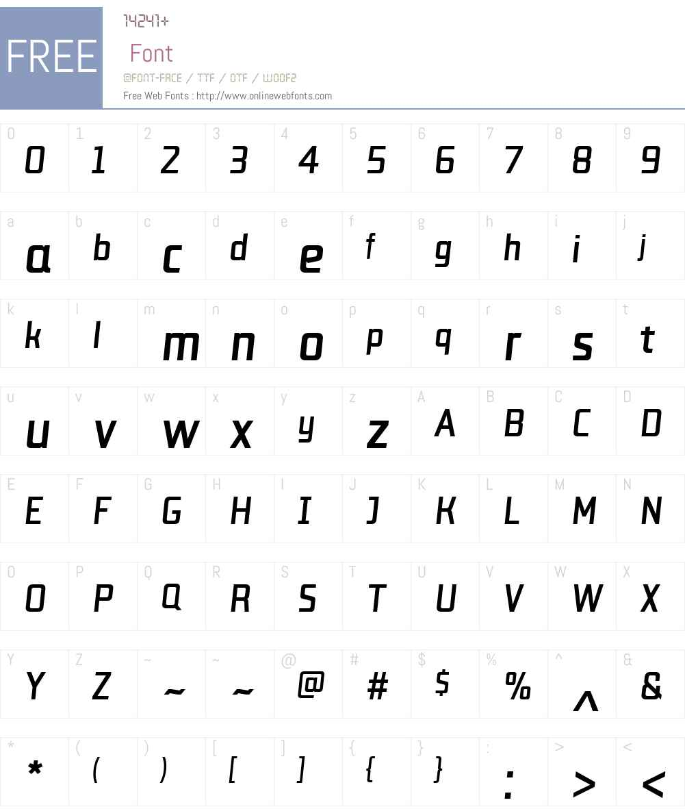 LabSansW01-MediumItalic Font Screenshots