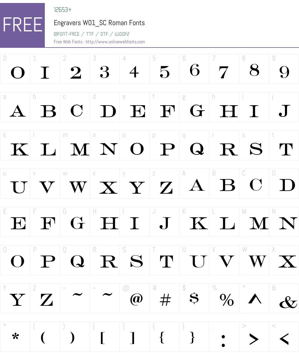 EngraversW01_SC-Roman Font Screenshots