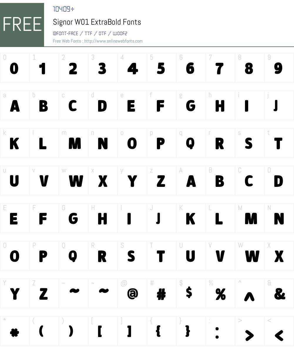 SignorW01-ExtraBold Font Screenshots