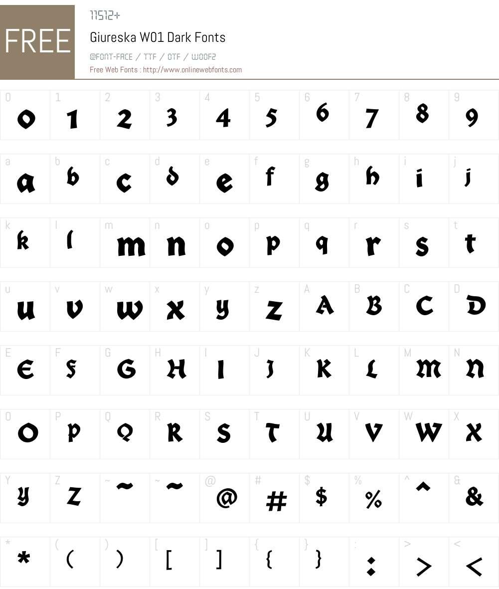GiureskaW01-Dark Font Screenshots
