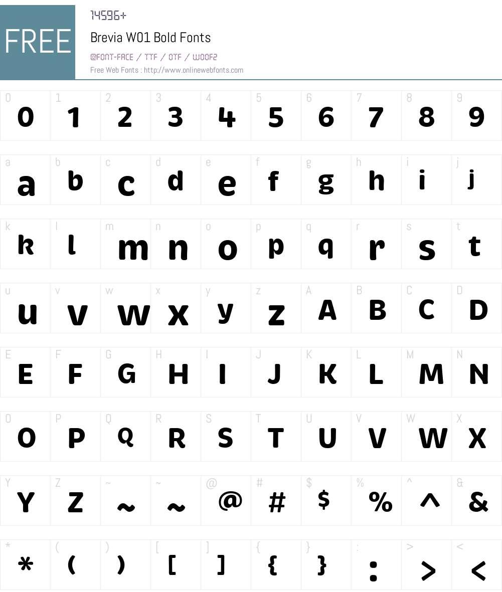 BreviaW01-Bold Font Screenshots