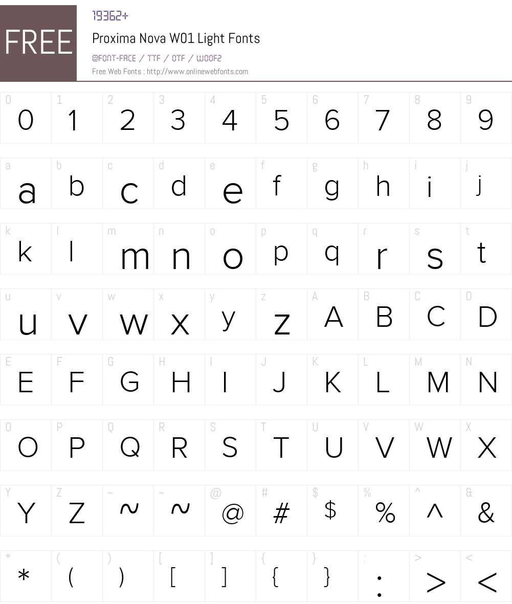 ProximaNovaW01-Light Font Screenshots