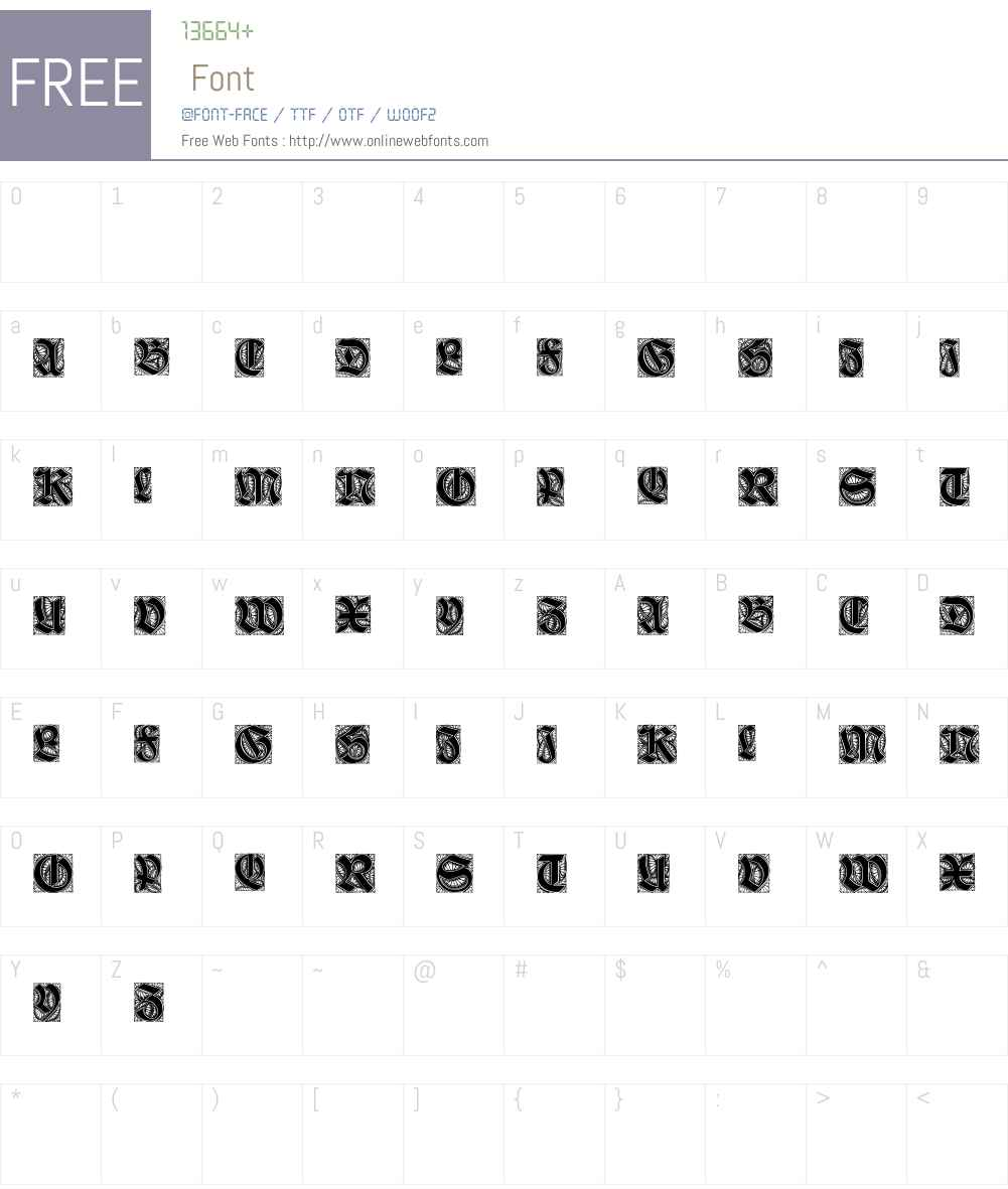 Ehmcke-Schwabacher Initialen Font Screenshots
