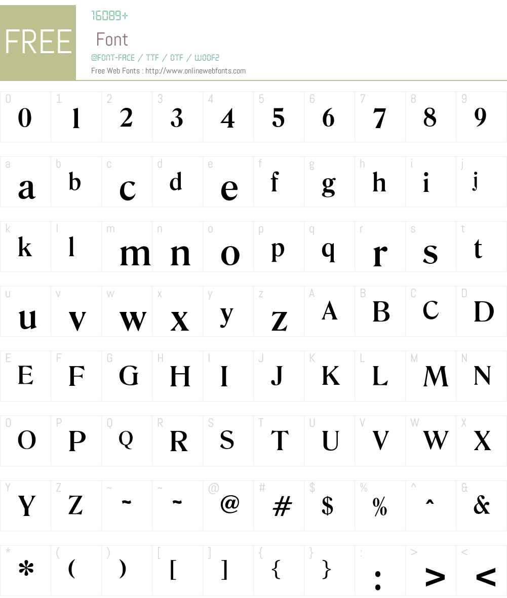 OktaveMedium Font Screenshots
