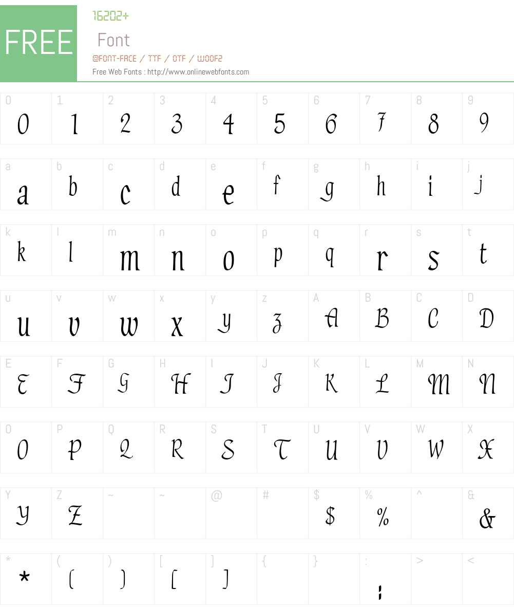 HadfieldEF Font Screenshots