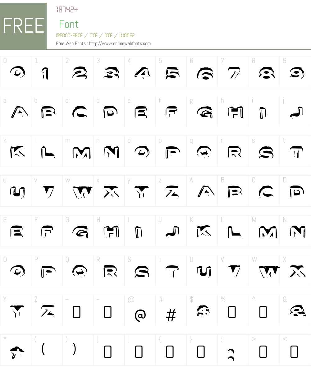 LetterSetW90-A Font Screenshots