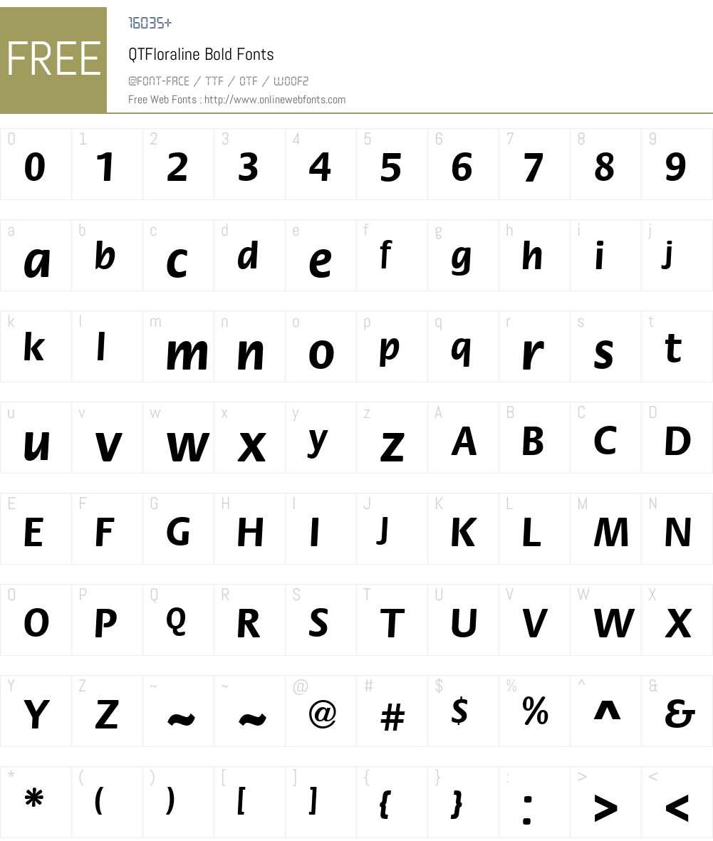 QTFloraline Font Screenshots