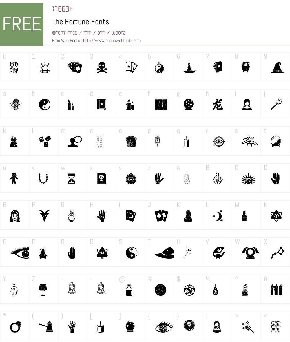 The Fortune Font Screenshots