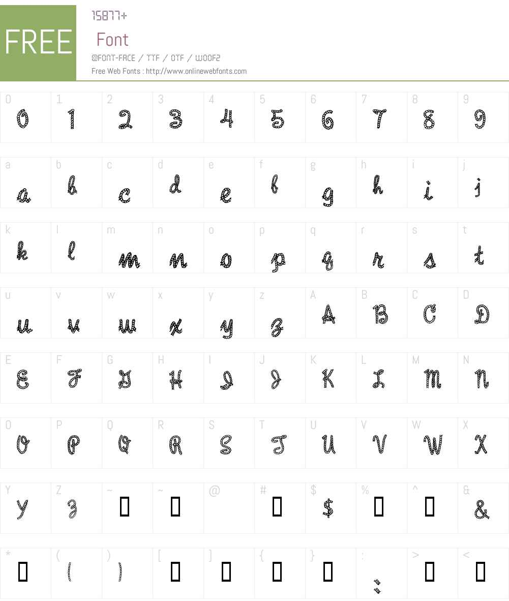 Rope MF Font Screenshots