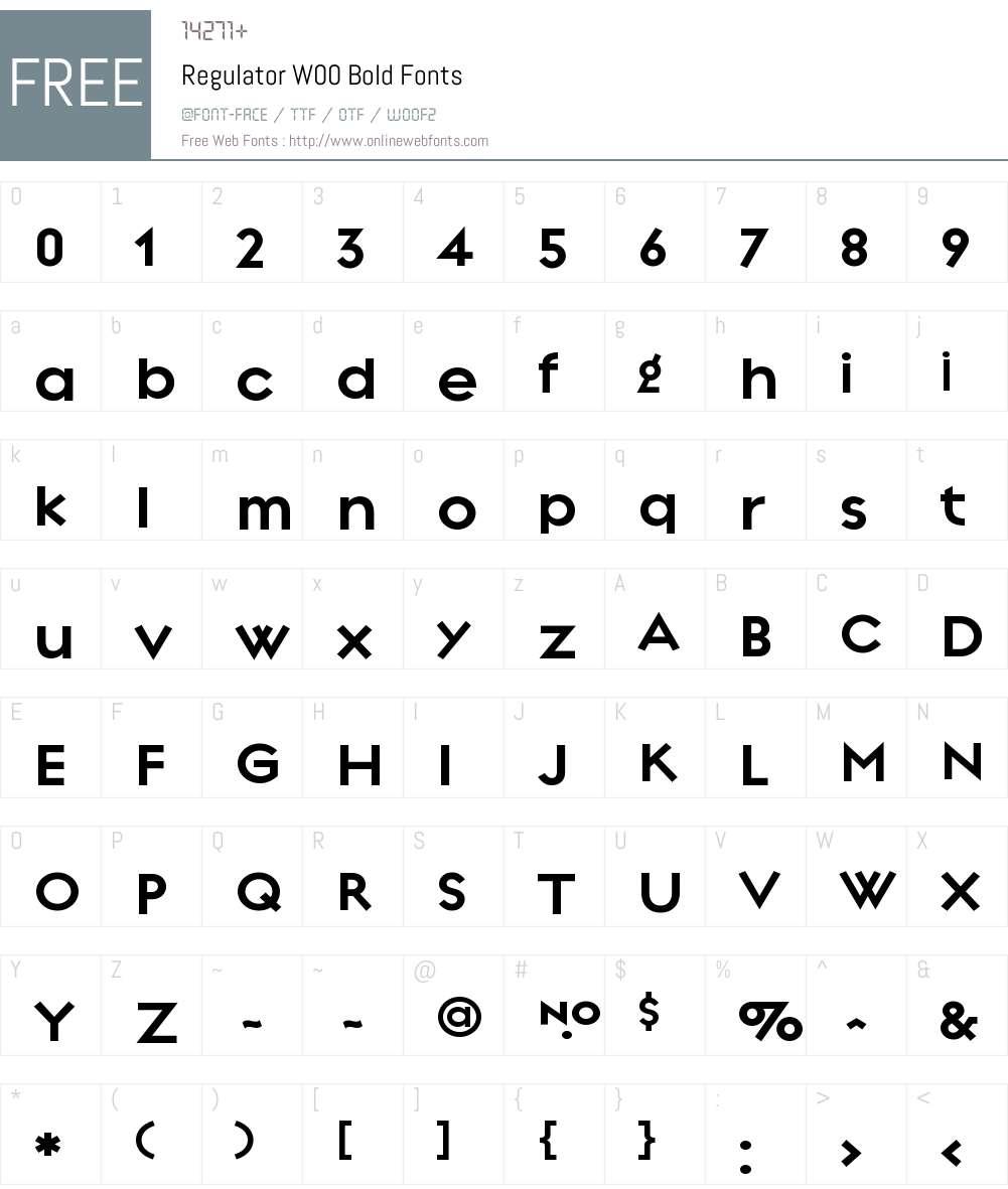 RegulatorW00-Bold Font Screenshots