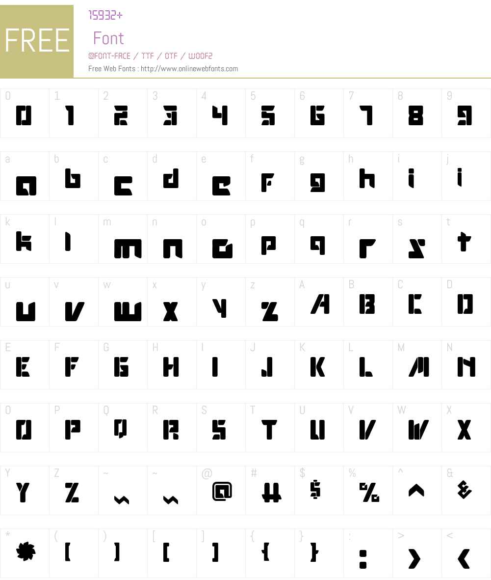 ROBOTOP Font Screenshots