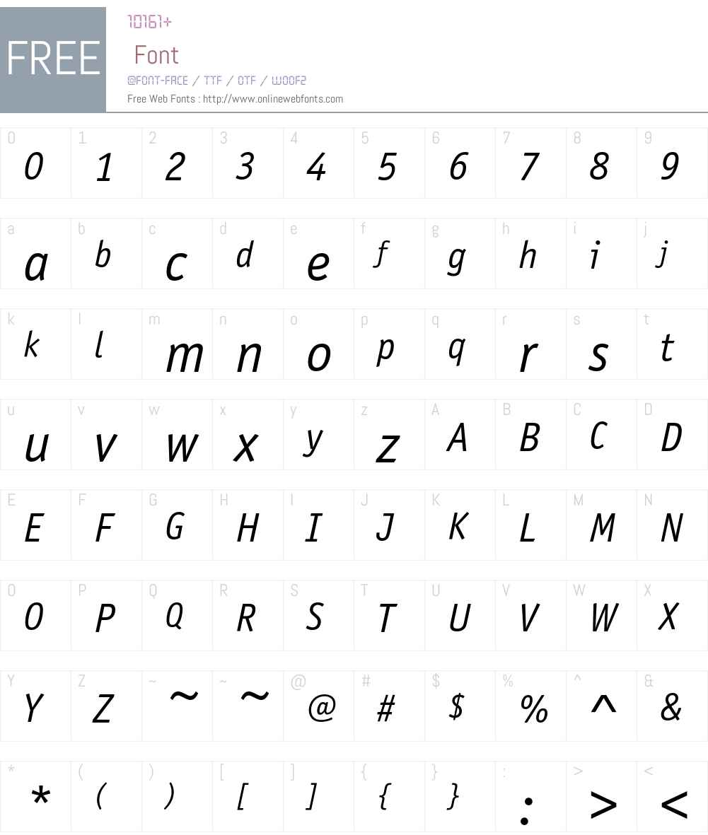 Officina Sans ITC Font Screenshots