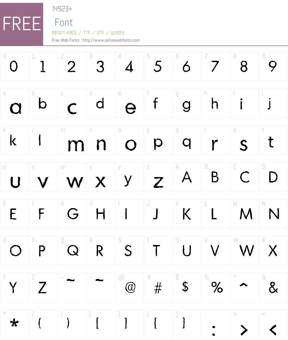 MontrealAntique Font Screenshots