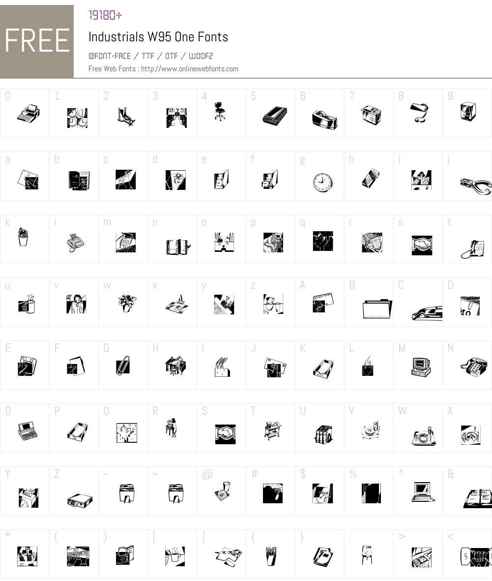 IndustrialsW95-One Font Screenshots