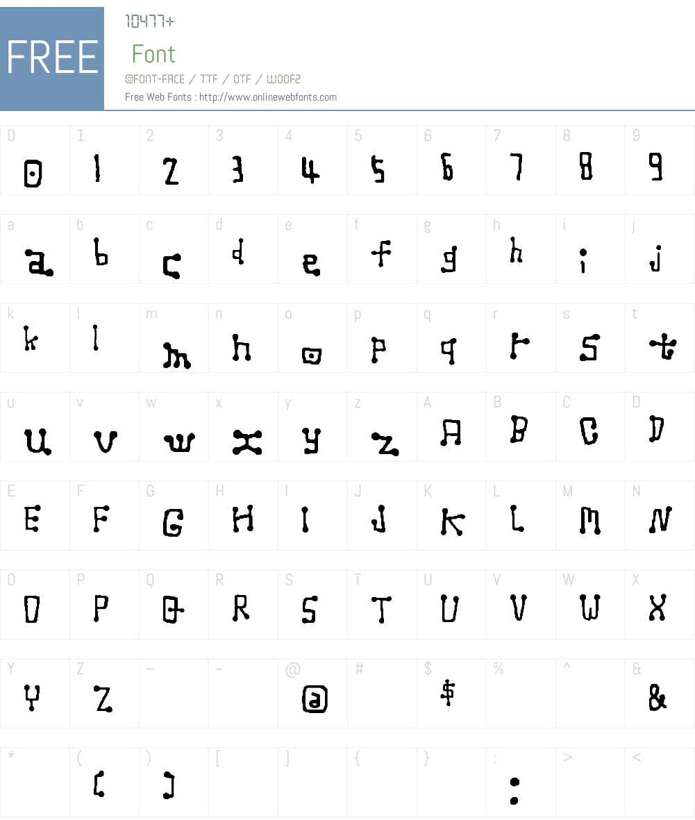 NANTEN Font Screenshots