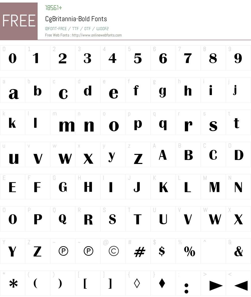 CgBritannia Font Screenshots