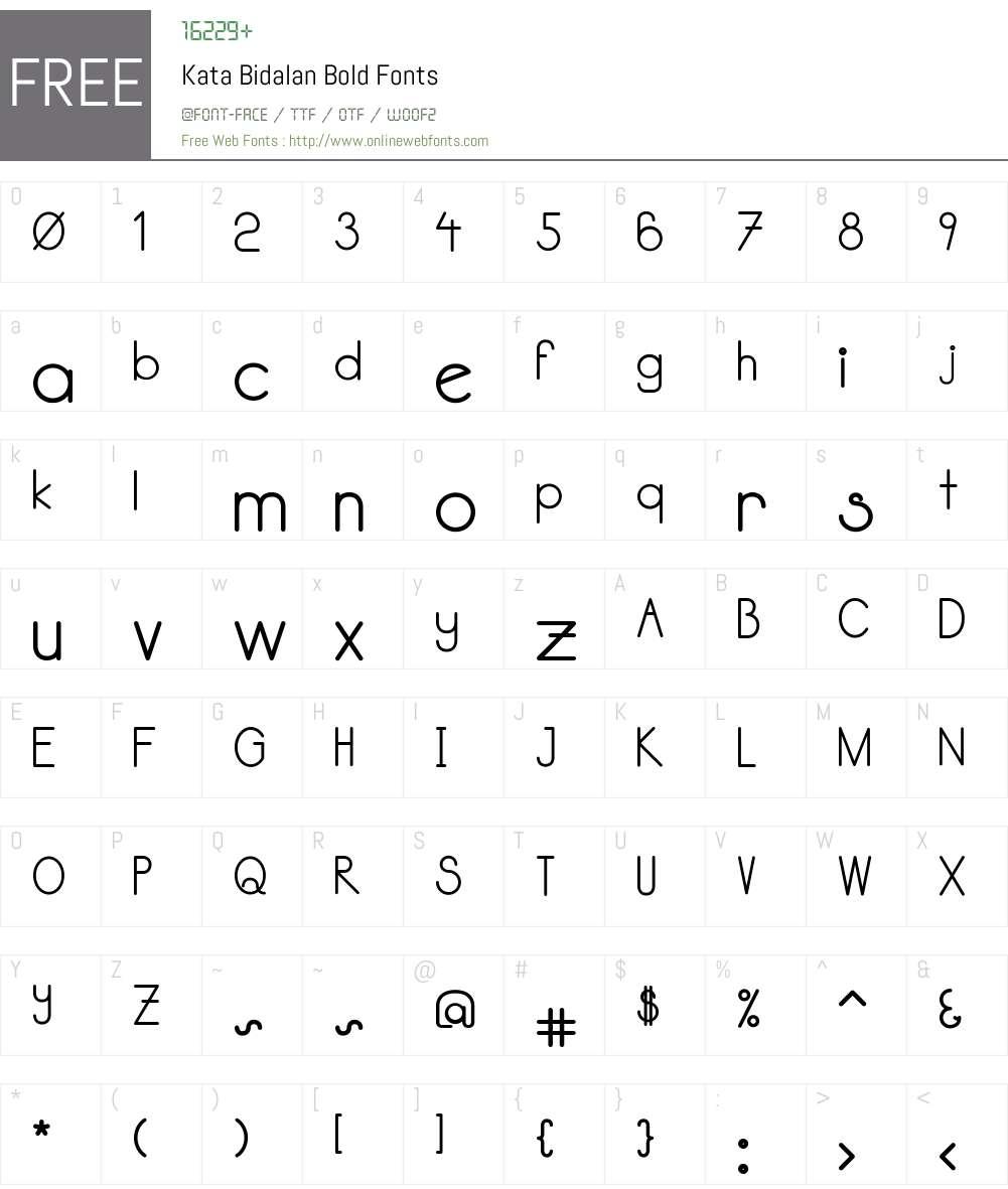 Kata Bidalan Bold Font Screenshots