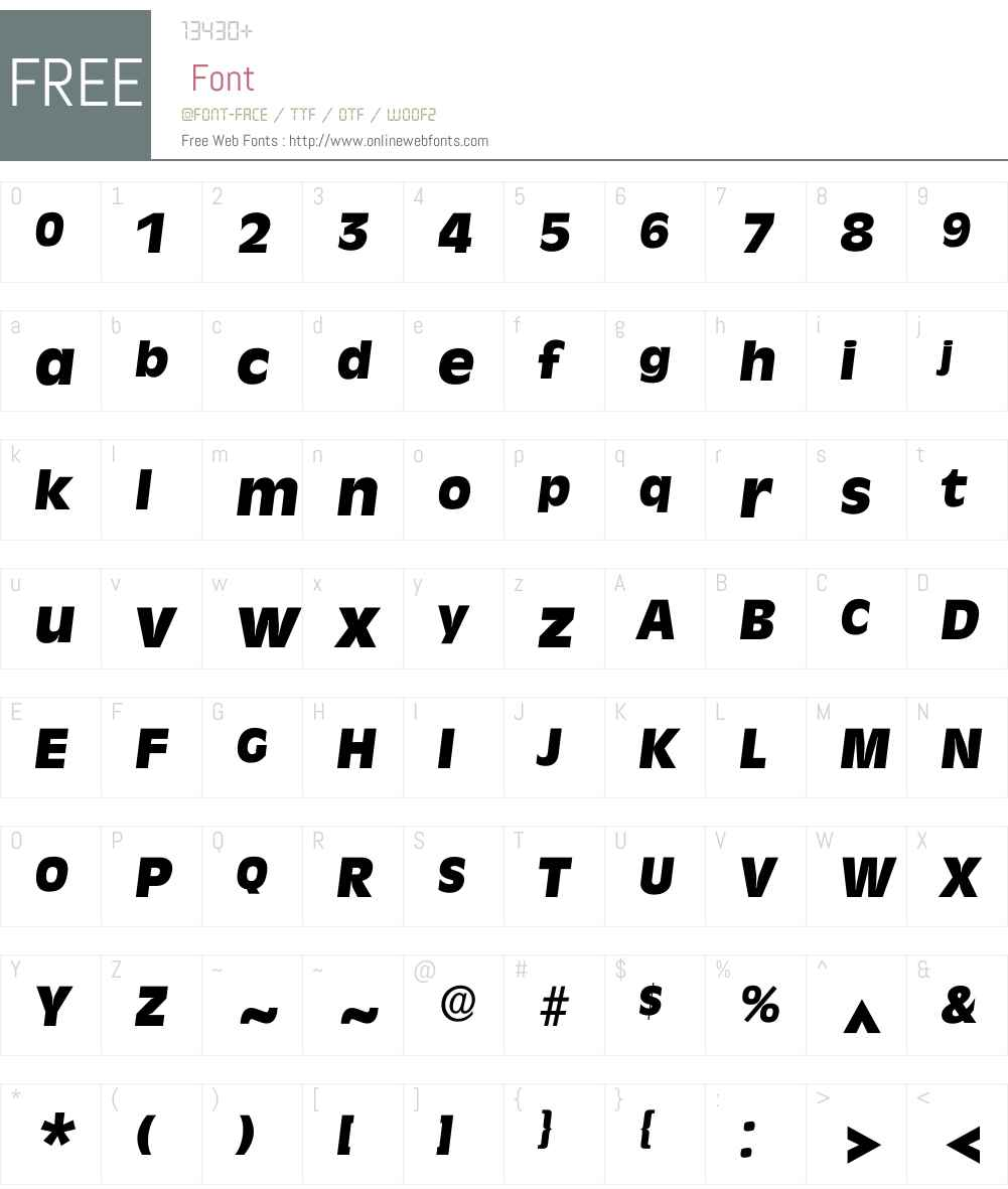Iravenna Font Screenshots