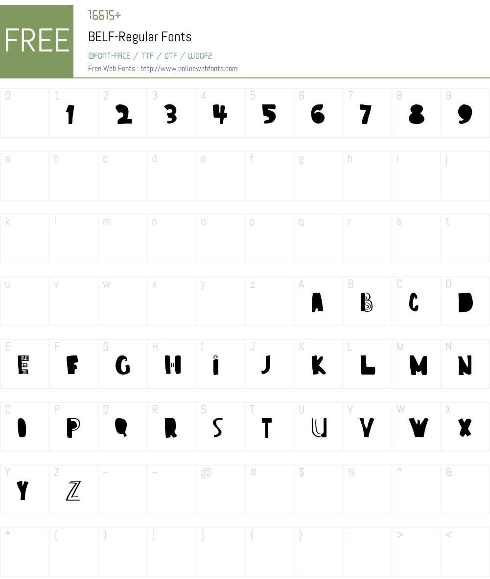 BELF Font Screenshots
