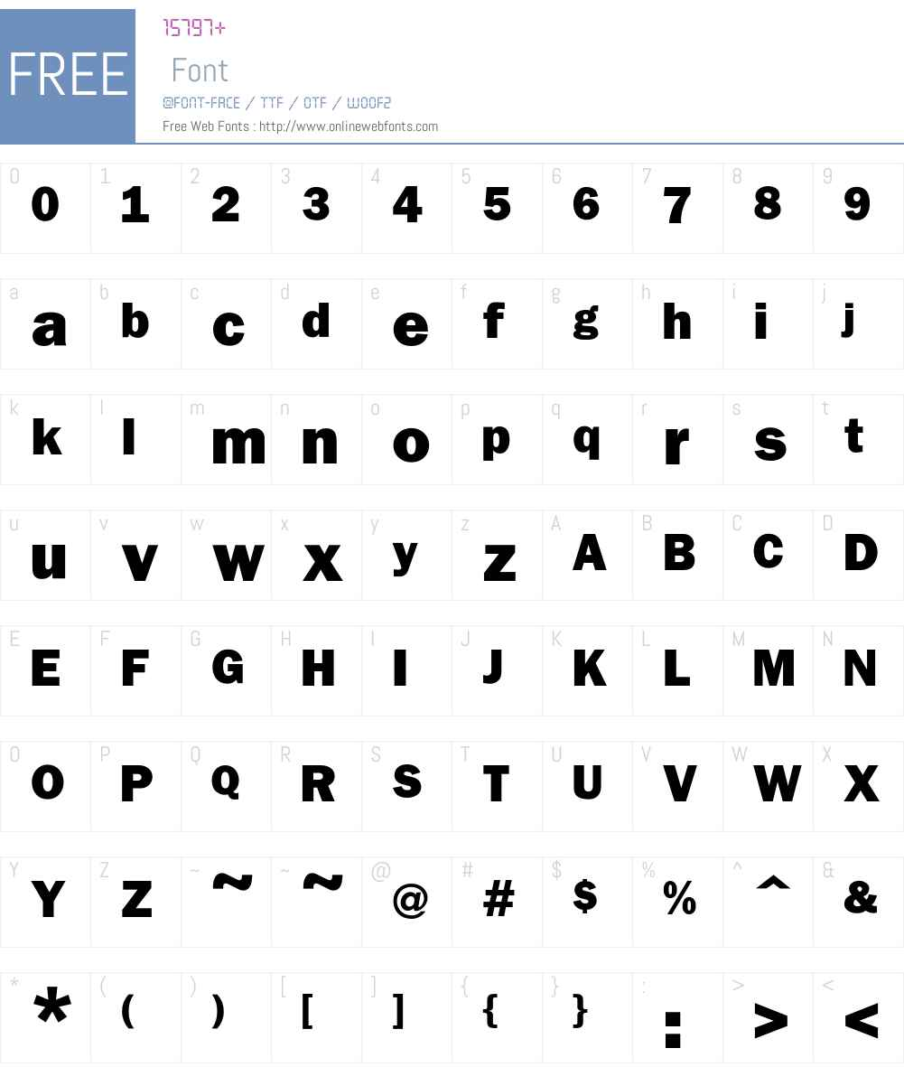 Franklin Font Screenshots