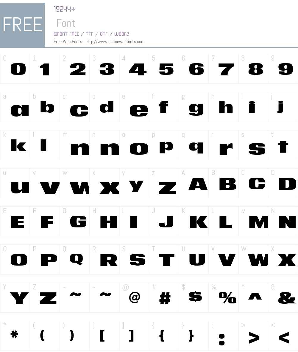 YWFTMatter-Medium Font Screenshots