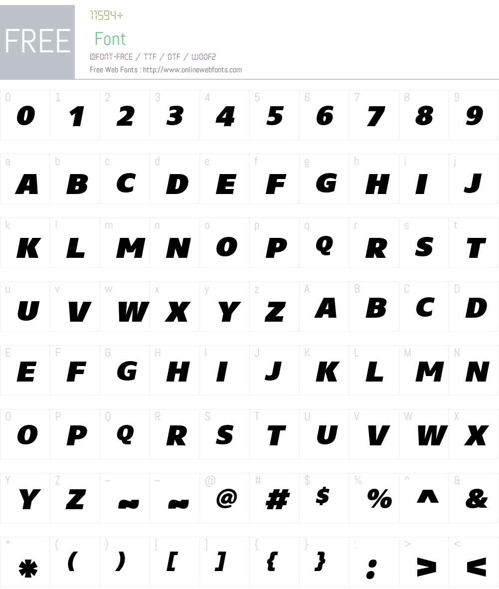CoreSansNSCW01-95BlkIt Font Screenshots