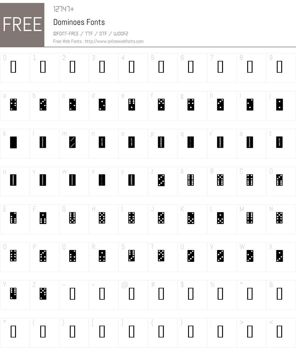 Dominoes Font Screenshots