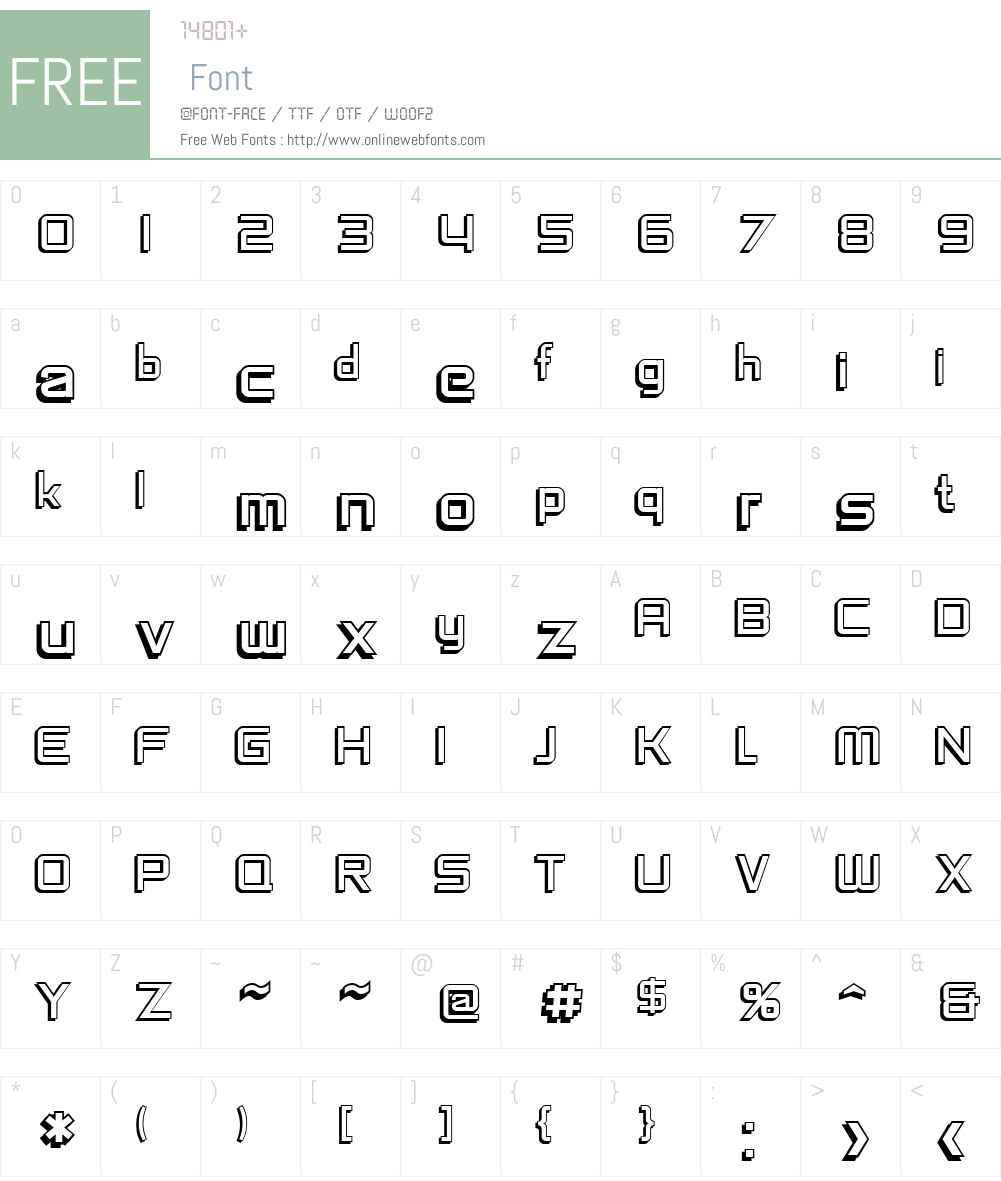 SF Chaerilidae Shaded Font Screenshots