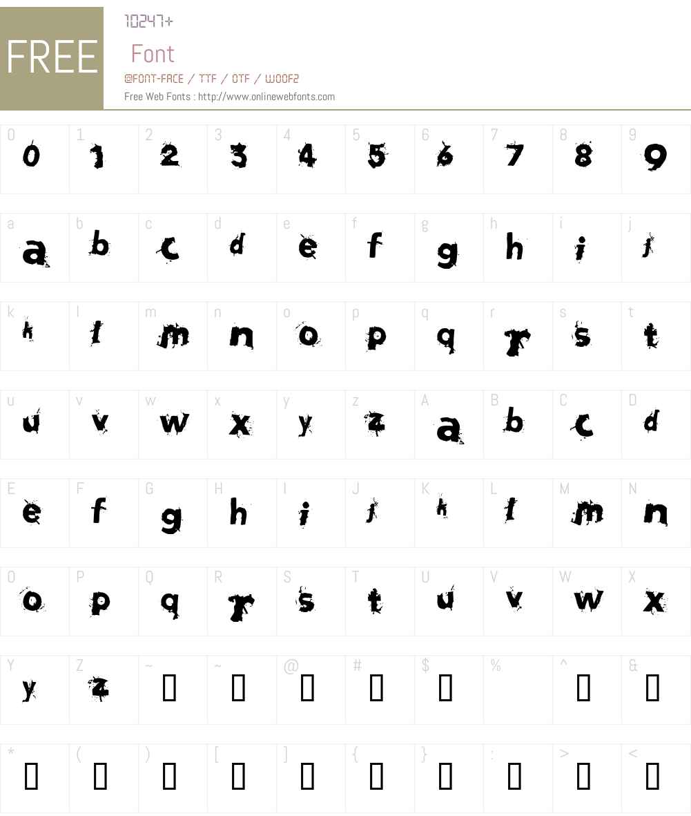 fz-wencang-075 Font Screenshots