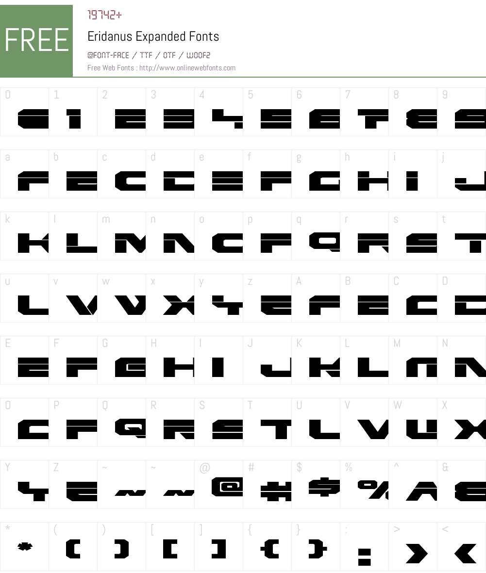 Eridanus Expanded Font Screenshots