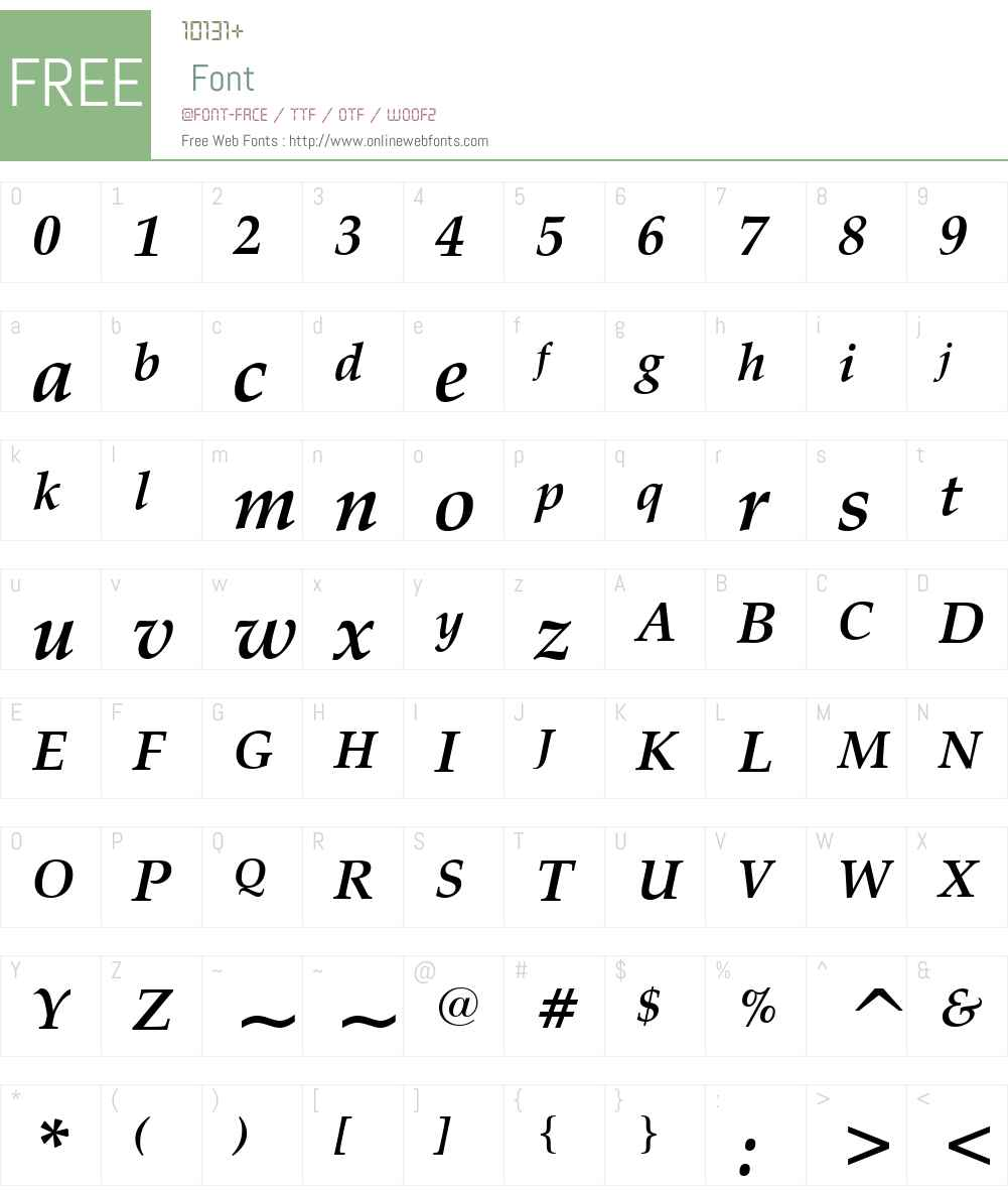 Zapf Calligraphic 801 Font Screenshots
